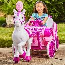 Royal Horse and Carriage Ride-On Toy $99