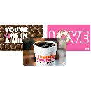 $80 in Dunkin' Donuts Gift Cards for $50