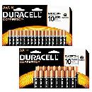 Duracell AA or AAA Batteries 16pk ONLY 1¢