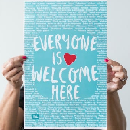 Free Everyone Is Welcome Here Poster