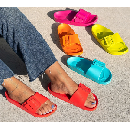 Fiji Buckle Slide Sandals $15.99