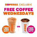 FREE Medium Iced or Hot Coffee at Dunkin