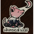 FREE Whimsical Wolf Stickers