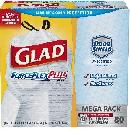 80 Glad 13 Gal Trash Bags $7.27 Shipped