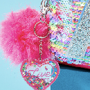 FREE Glitter Heart Bag Charm at Justice