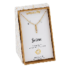 Cubic Zirconia Gold Bar Necklace $12.80