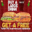 FREE Famous Star or Western Cheeseburger