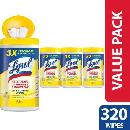 320ct Lysol Disinfecting Wipes $6.86