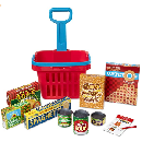 Fill & Roll Grocery Basket Play Set $8.99