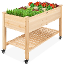 Elevated Wood Planter $104.99