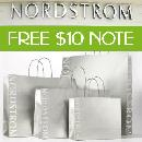 FREE $10 Nordstrom Note Certificate