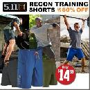 5.11 Recon Training Shorts For $14.99