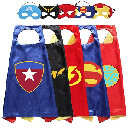 Set of 5 Superhero Capes and Masks $11.99