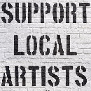 FREE Support Local Artists Stickers