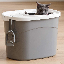 Top Entry Cat Litter Box with Scoop $13.49