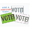 "3 FREE ""Vote! (...please)"" Postcards"