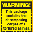 FREE Meat 'Warning!' Label Stickers