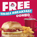 FREE Wendy's Small Breakfast Combo